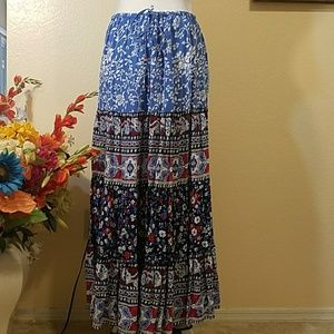 NEW ARRIVAL! Gorgeous Colorful Maxi Skirt